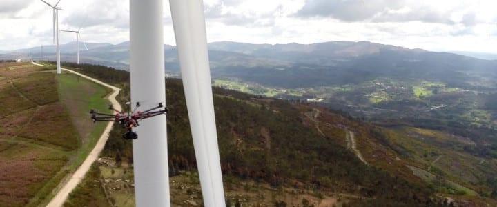 Inspección eólica con drone