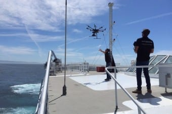 Aerocamaras Grabación para FRS en el estrecho de Gibraltar