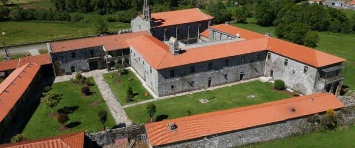 Fotografía Aérea del Monasterio de Aciveiro