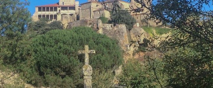 Castillo de Monterrei desde el drone de aerocámaras