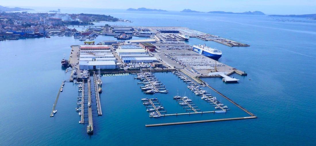 Aerocamaras realiza la inspección de las naves del puerto de Vigo