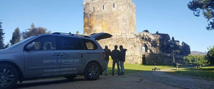 Fotogrametría con drone del Castillo de Soutomaior