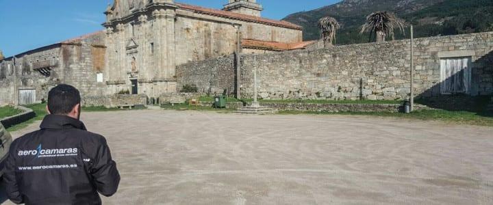Fotogrametría con drone del monasterio de Oia