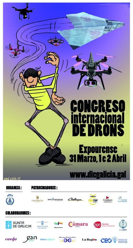 Cartel Congreso drones Ourense DICGalicia
