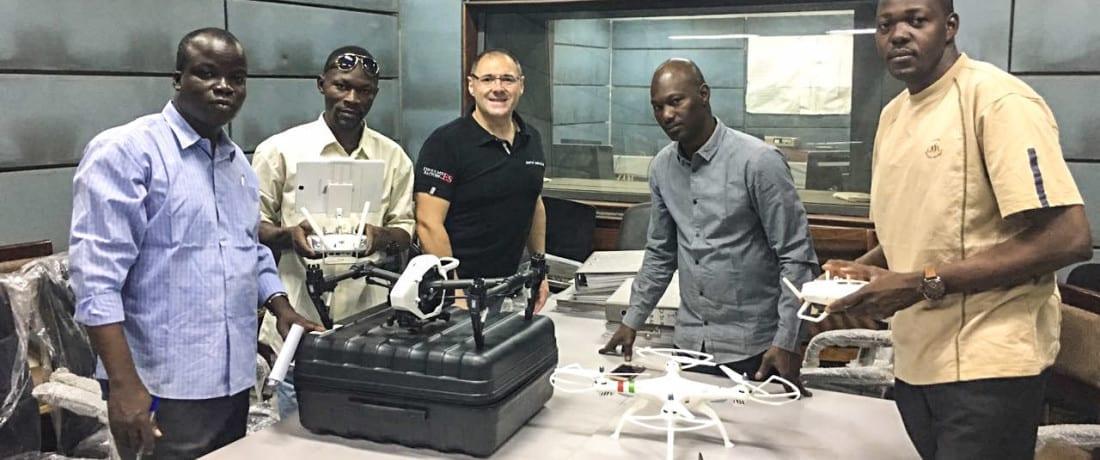 Los drones profesionales de Aerocamaras aterrizan en Mali