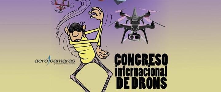 Cartel oficial del congreso internacional de drones Ourense