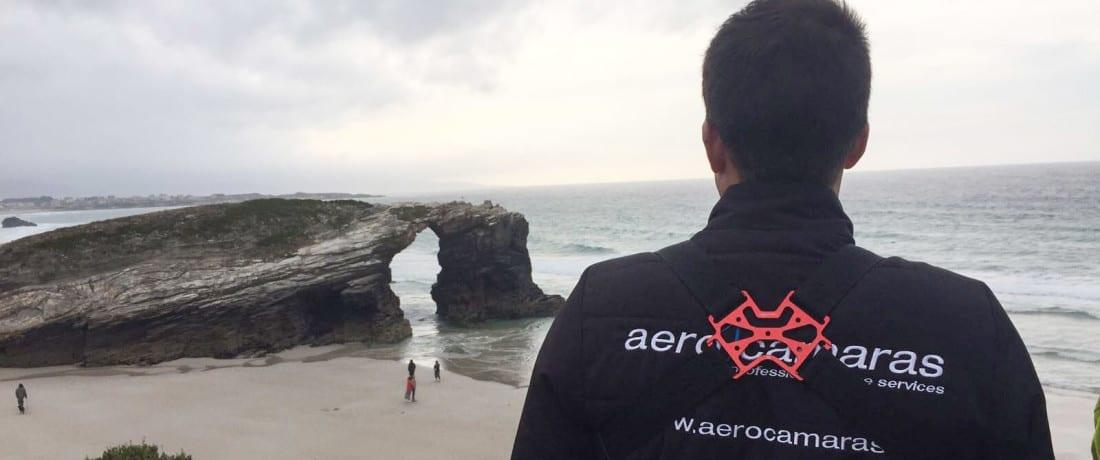 """Filmación 360º de la """"Playa de las Catedrales"""" con drone profesional"""