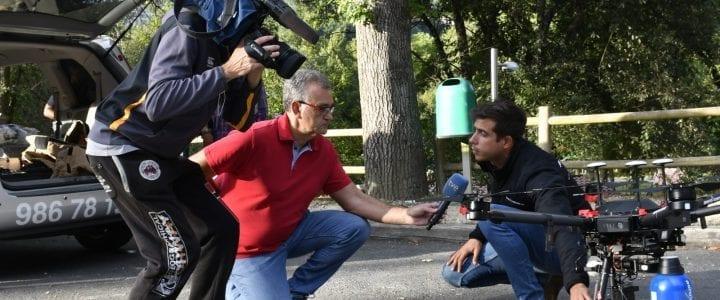 TVE y varios medios de prensa nacional se interesan por nuestro servicio pionero de exterminación de avispa Velutina con drones.
