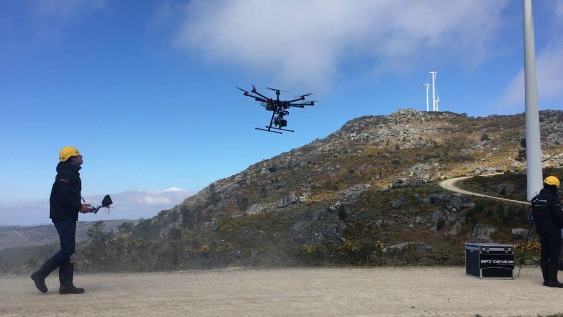Inspección aerogeneradores con drones