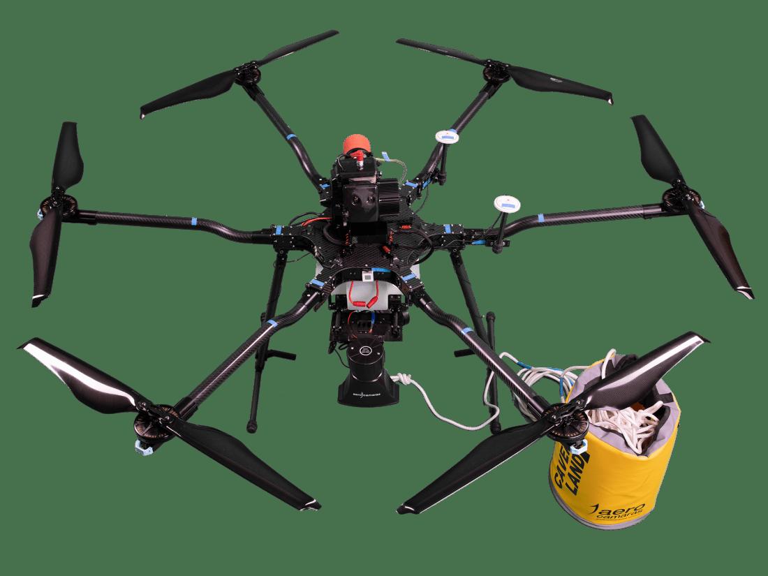 Dron híbrido para rescate de altura