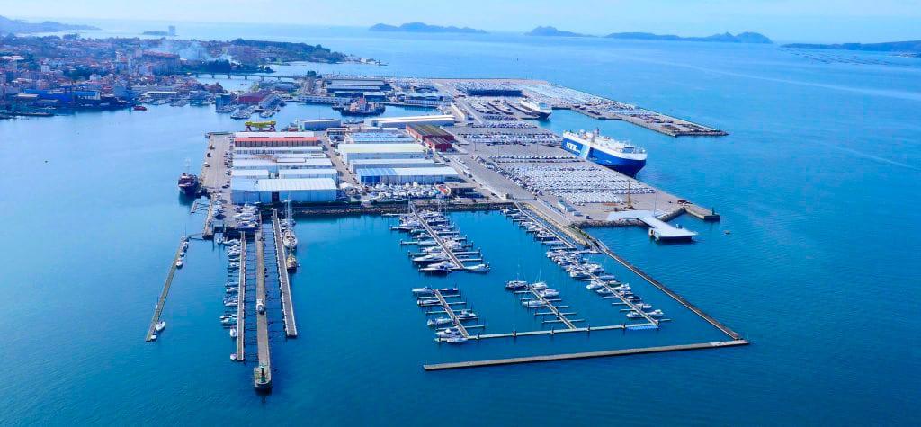 Puerto de Vigo a vista de dron