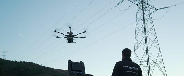 Aerocamaras, única empresa en el mundo en usar drones con tres sensores para la inspección de redes eléctricas