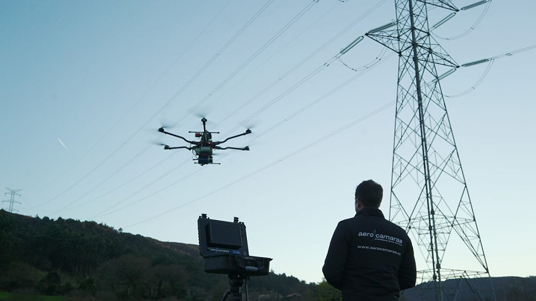 Dron inspecciones eléctricas Aerocamaras