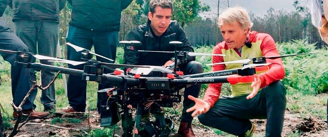 Aerocamaras colabora en Volando Voy con Jesús Calleja