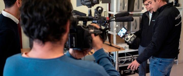 Aerocamaras desde dentro, en televisión