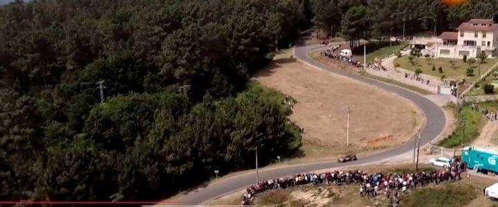 Teledeporte emite los planos aéreos grabados por Aerocamaras en el Rally de Ourense