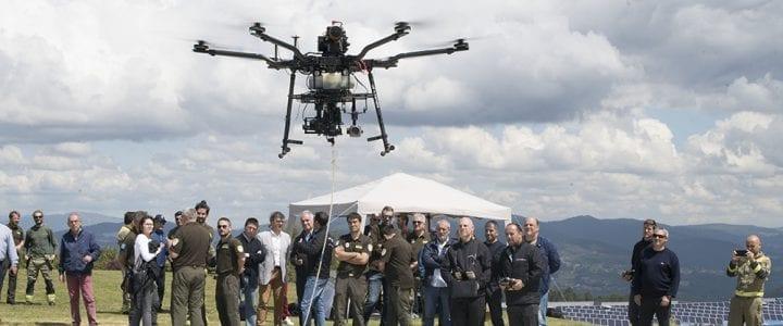 Aerocamaras exhibe su unidad de drones para luchar contra el fuego y vigilar los montes