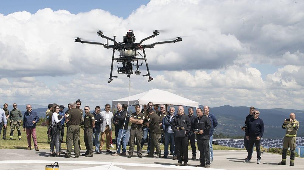 Aerocamaras presenta sus drones contra incendios