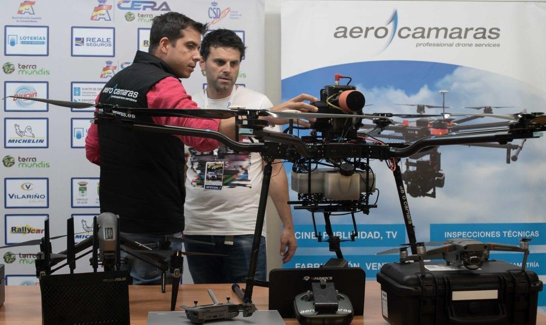 Presentación AeroHyb como dron de seguridad en el Rally do Cocido