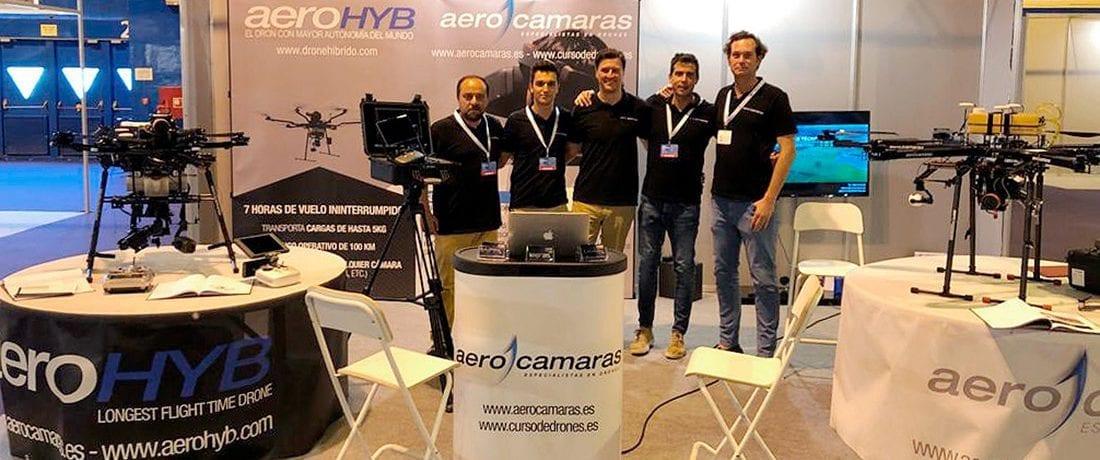 Aerocamaras presenta su dron híbrido en Expodronica
