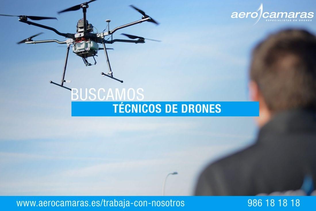 Oferta Empleo Tecnico de Drones Aerocamaras