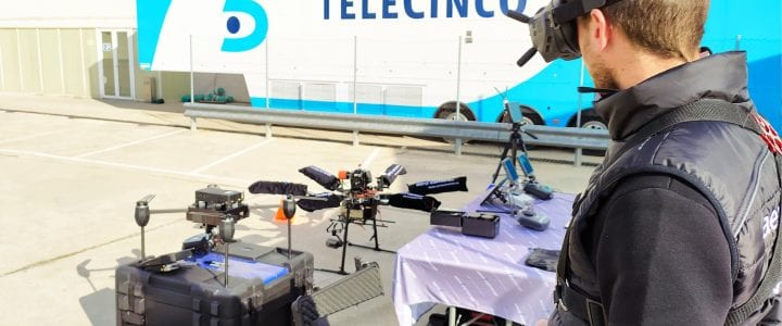 Aerocamaras retransmite en directo para Mediaset