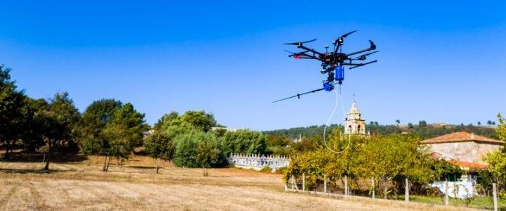 Drone Velutina con carga de pago