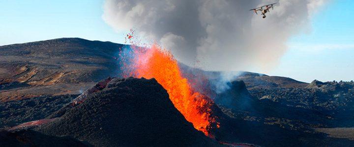 Usos y aplicaciones de los drones ante una erupción volcánica